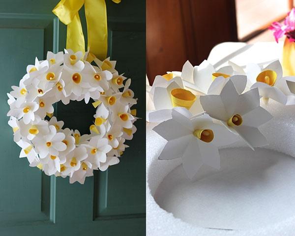 Daffodils paper wreath