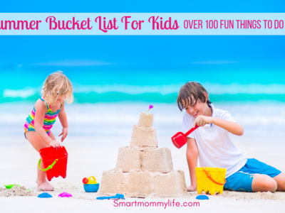 100+ Clever Summer Bucket List For Kids (FREE PRINTABLE)