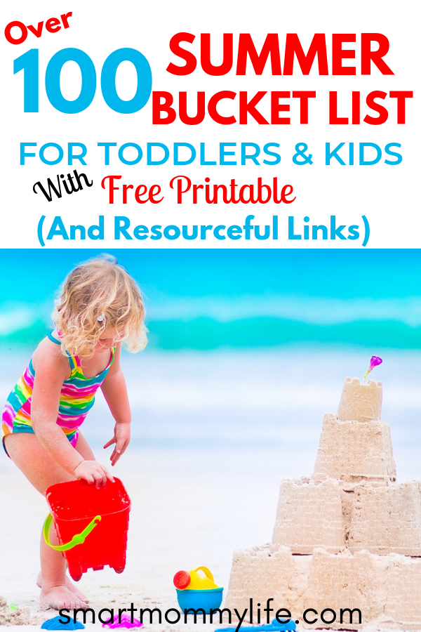 Clever summer bucket list ideas for toddlers and kids to keep them entertained during the summer. A huge list of summer activities and fun things to do with family